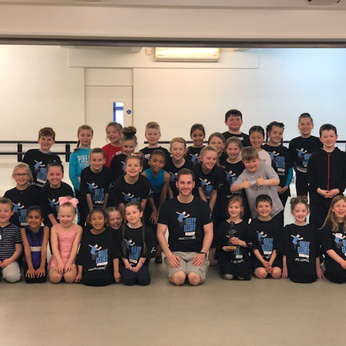CC Dance Company Students meet Billy Elliot's James Lomas