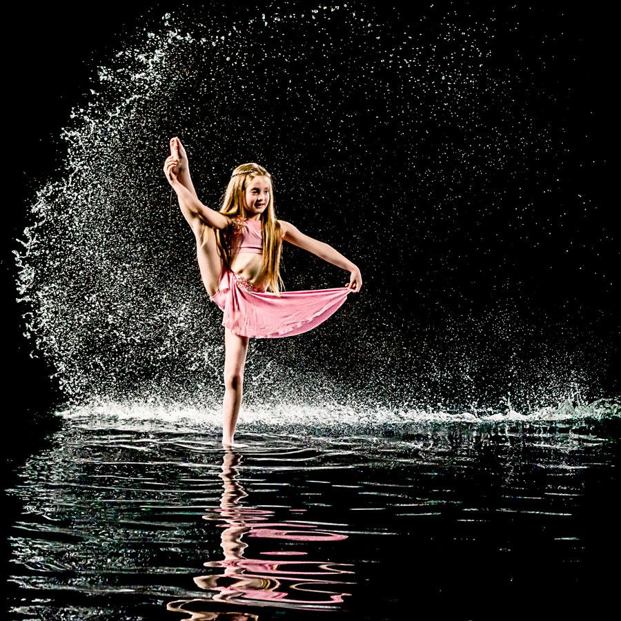 Dancer in water