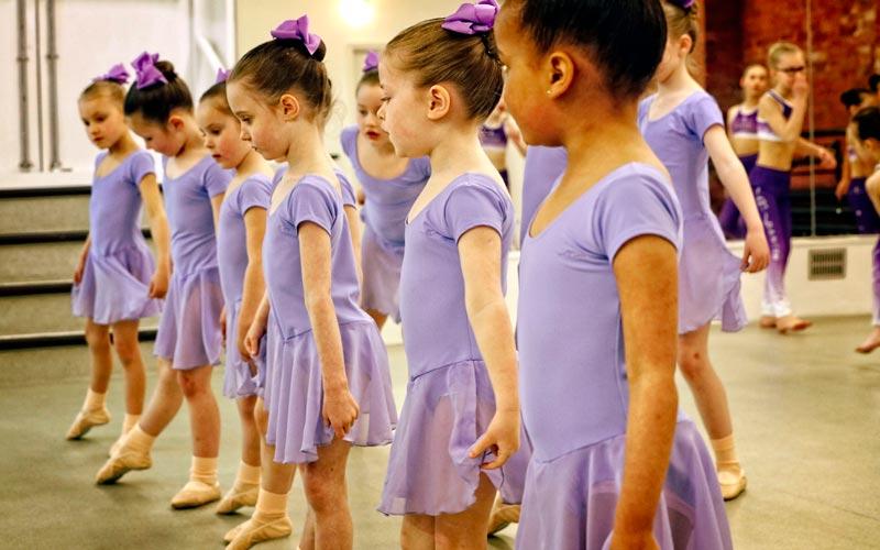 Child ballet dancing