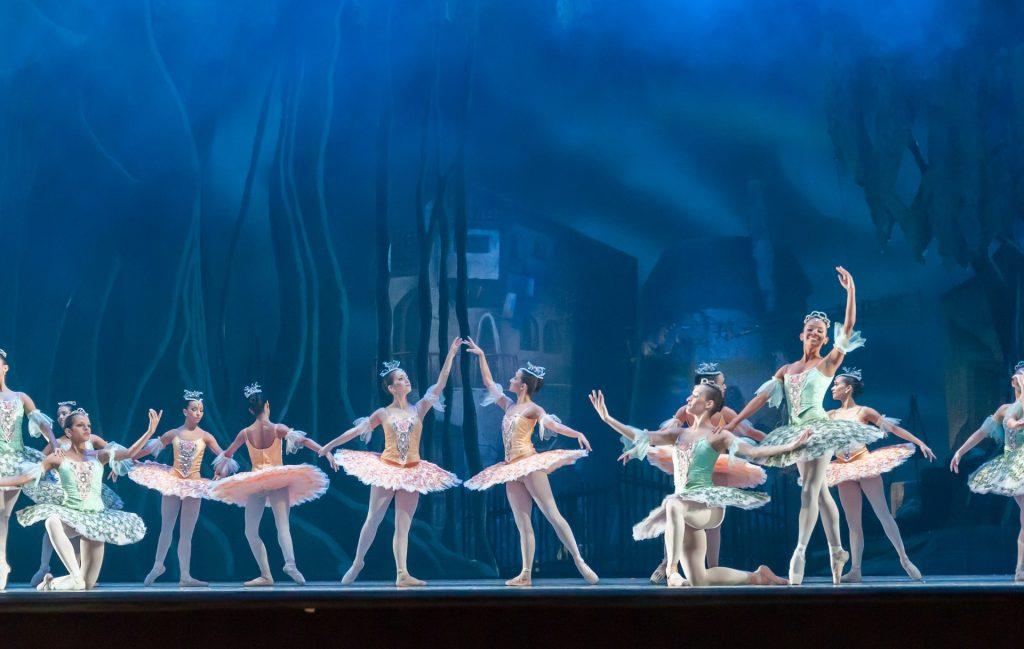 group of ballerinas preforming